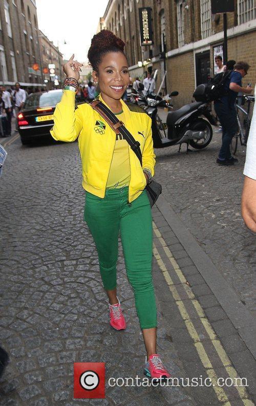 Cedella Marley at Puma Yard to watch the...