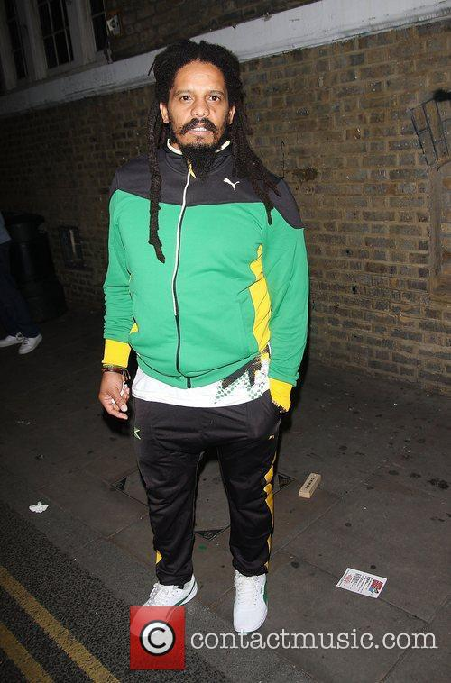 Rohan Marley at Puma Yard to watch the...