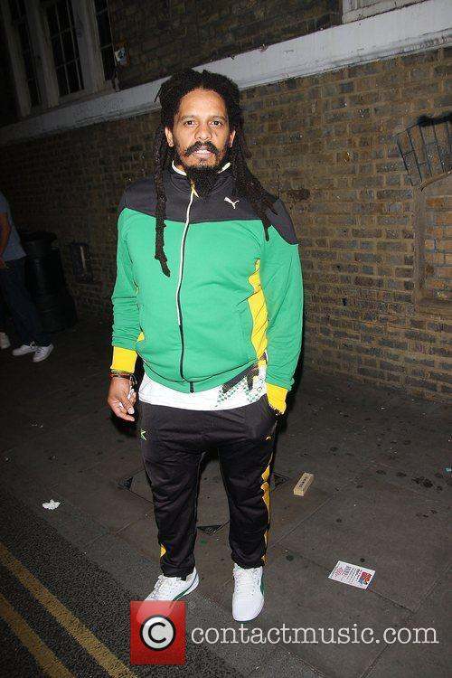 Rohan Marley at Puma Yard to watch the...