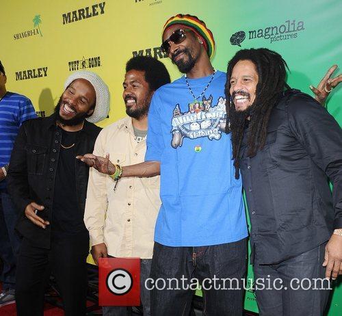 Ziggy Marley, Rohan Marley and Snoop Dogg