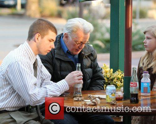 Martin Sheen has lunch with his family at...