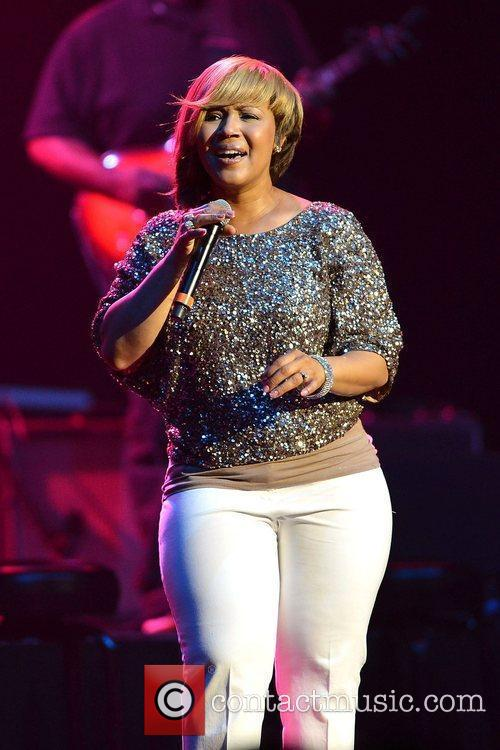Gospel music duo sisters Mary Mary perform live...