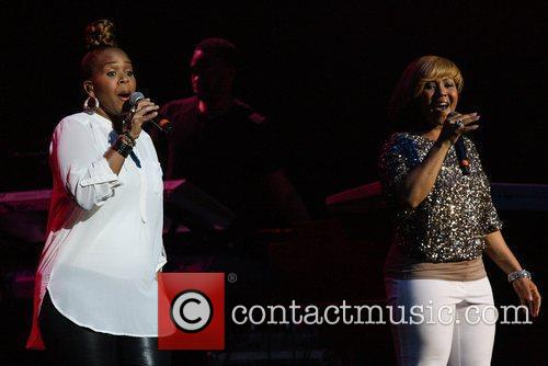 Trecina Atkins-Campbell and Erica Atkins-Campbell of Mary Mary...