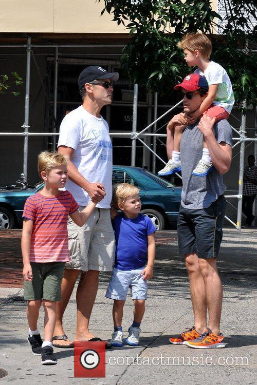 Matt Bomer and partner out and about with...