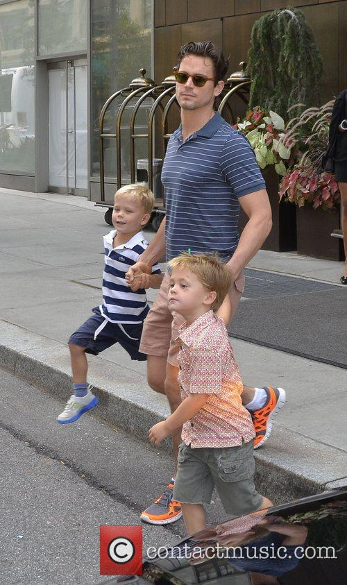 Matt Bomer and his sons  out and...
