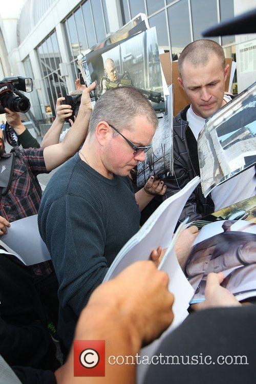 matt damon sign autographs for fans as 5963853