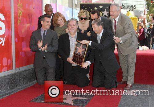 Nancy Cartwright, Hank Azaria, Matt Groening, Yeardley Smith and Star On The Hollywood Walk Of Fame 2