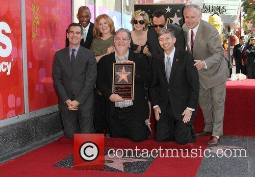 Nancy Cartwright, Hank Azaria, Matt Groening, Yeardley Smith and Star On The Hollywood Walk Of Fame 3