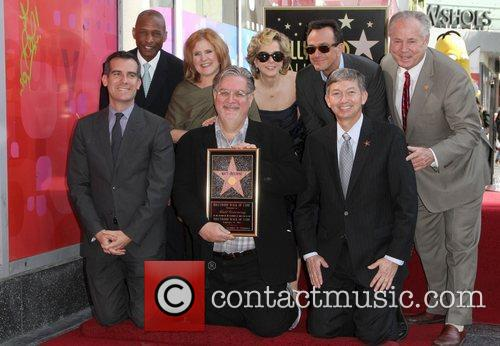 Nancy Cartwright, Hank Azaria, Matt Groening, Yeardley Smith and Star On The Hollywood Walk Of Fame 4