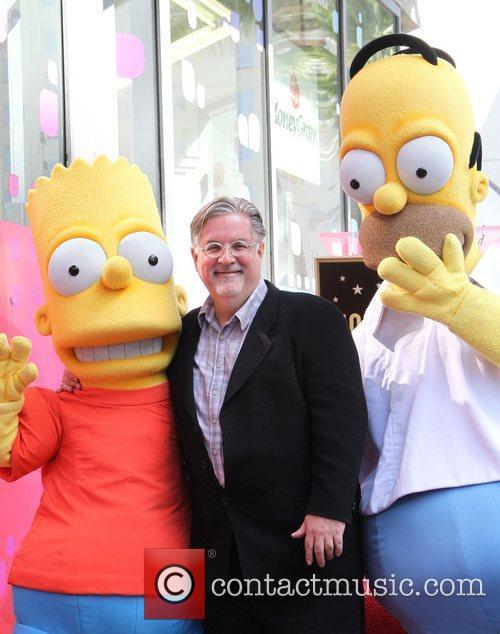 Matt Groening and Star On The Hollywood Walk Of Fame 7