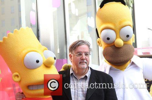 Matt Groening and Star On The Hollywood Walk Of Fame 8