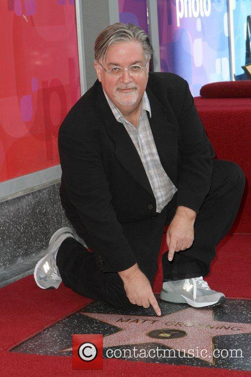 Matt Groening and Star On The Hollywood Walk Of Fame 1