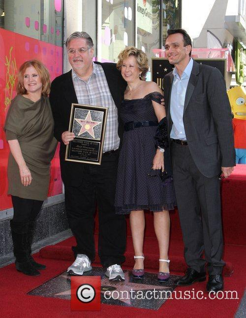 Nancy Cartwright, Hank Azaria, Matt Groening, Yeardley Smith and Star On The Hollywood Walk Of Fame 5