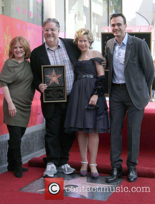 Nancy Cartwright, Hank Azaria, Matt Groening, Yeardley Smith and Star On The Hollywood Walk Of Fame 6