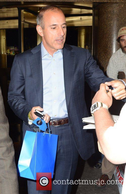 matt lauer outside the late night with 3997580