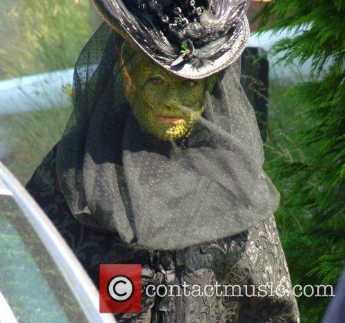 Neve McIntosh filming a Doctor Who Christmas special...