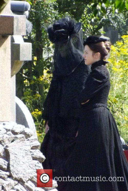 Neve McIntosh and Catrin Stewart filming a Doctor...