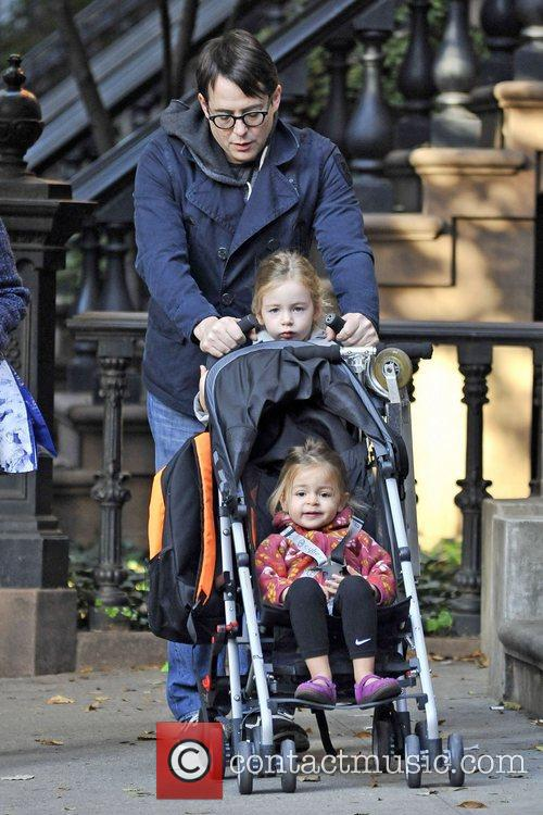 Matthew Broderick  seen walking his daughters Tabitha...