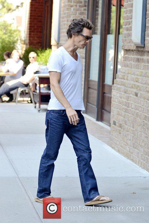 Matthew McConaughey looking skinny in New York