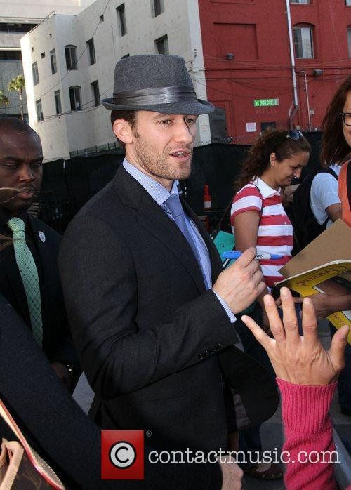 Signing autographs outside 'Jimmy Kimmel Live!'