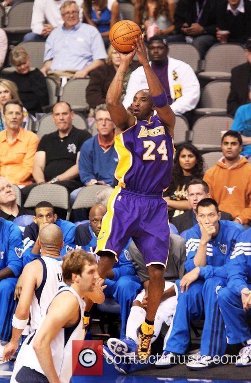 Kobe Bryant NBA game between Dallas Mavericks and...