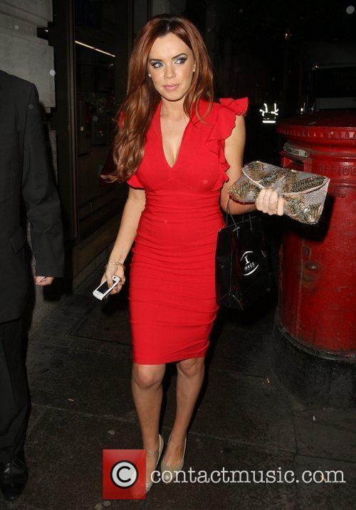 Maria Fowler leaving the May Fair Hotel London,...