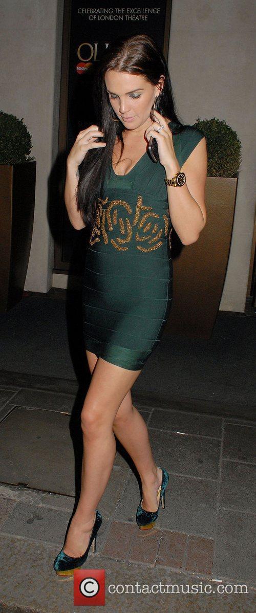 Danielle Lloyd leaving the May Fair hotel. London,...