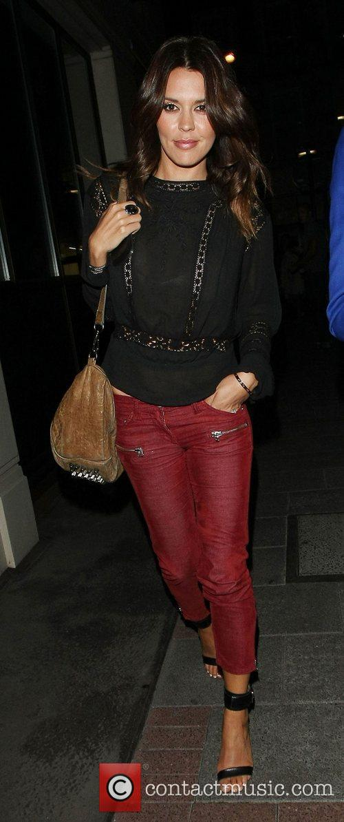 Danielle Lineker at the May Fair hotel London,...