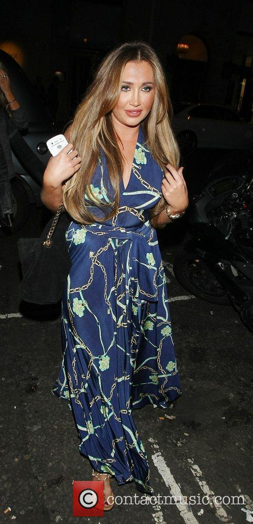 Lauren Goodger at the May Fair hotel London,...