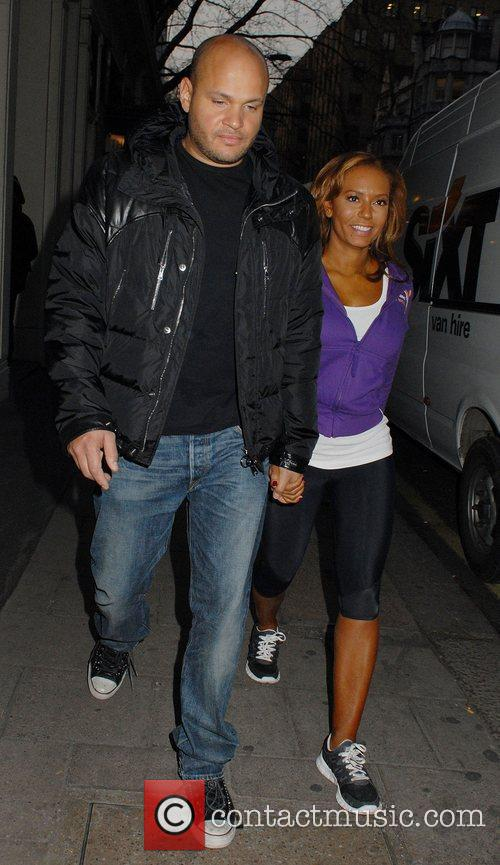 stephen belafonte with melanie brown who shaped 3781281