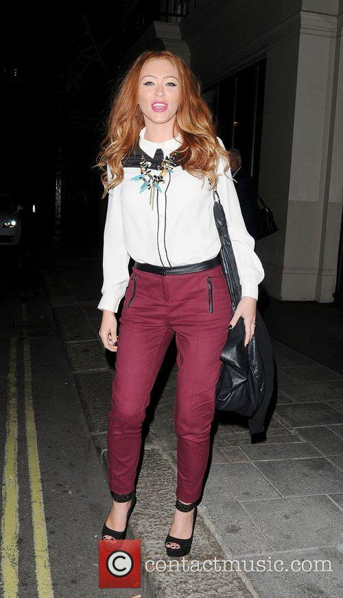 Natasha Hamilton  leaving May Fair Hotel,...