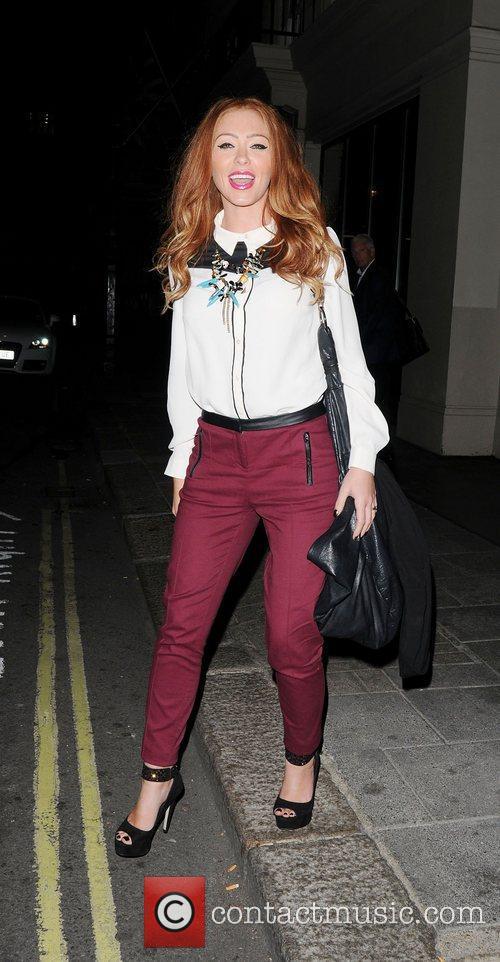Natasha Hamilton  leaving May Fair Hotel,