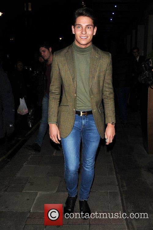 Joey Essex leaves The May Fair Hotel after...