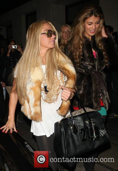 katie price and amy willerton outside the 3680795