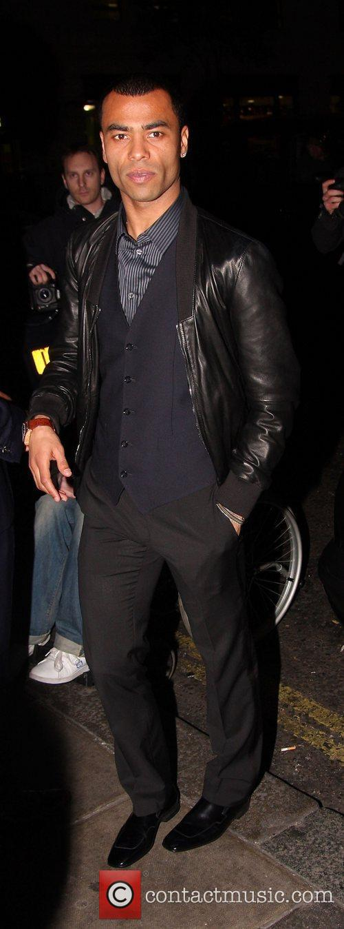 Ashley Cole  leaving the Mayfair Hotel London,...