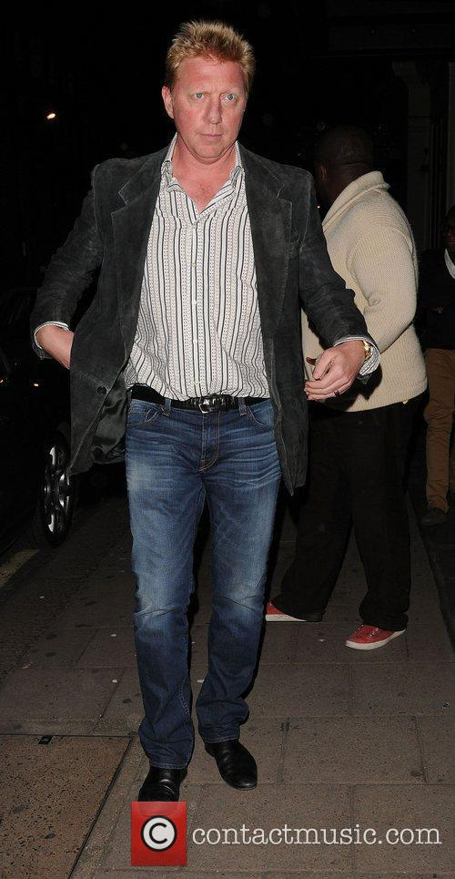 Boris Becker aout and about in Mayfair,...