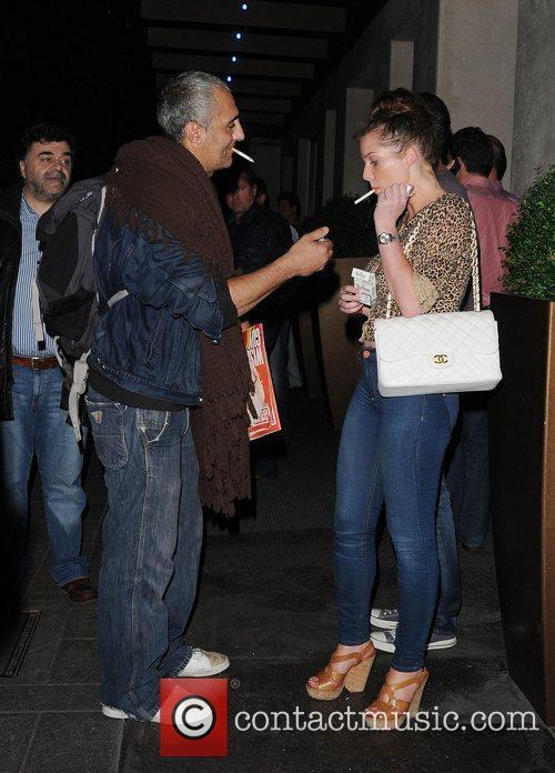 Helen Flanagan leaving May Fair Hotel,