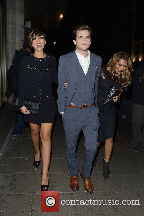 Frankie Sandford and Vanessa White with her boyfriend,...