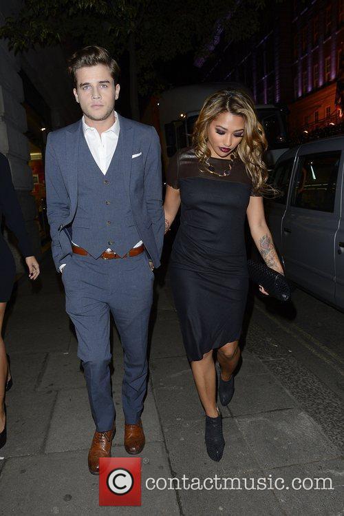 Vanessa White with her boyfriend, Gary,  at...