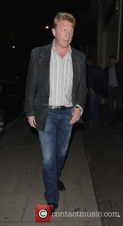 Boris Becker  out and about in Mayfair...