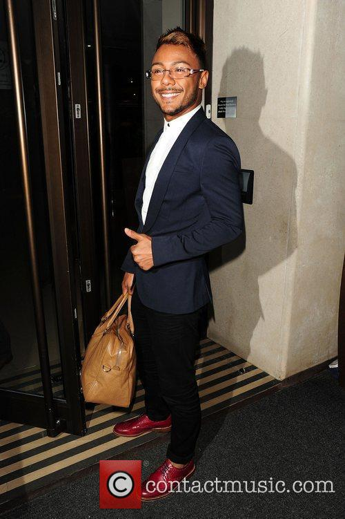 Marcus Collins leaving May Fair hotel London, England