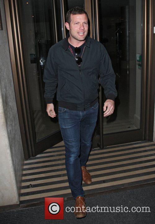 Dermot O`Leary leaving the May Fair hotel London,...
