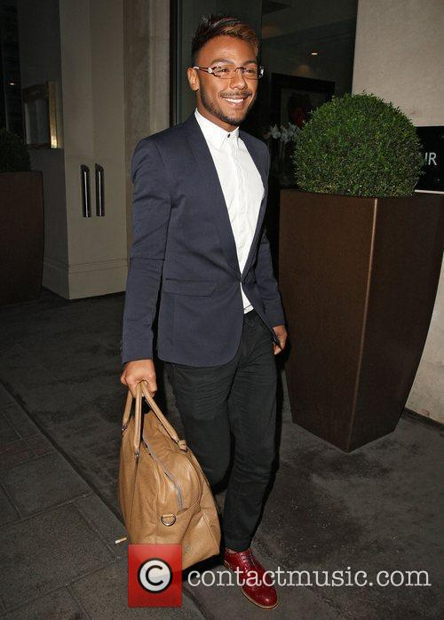 Marcus Collins leaving the May Fair hotel London,...