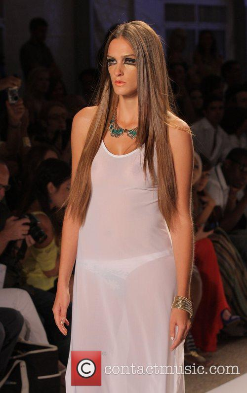 Model, Karina Smirnoff and Mercedes Benz Fashion Week 13