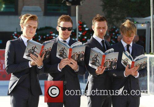 Tom Fletcher, Danny Jones, Harry Judd, Dougie Poynter and Selfridges 1