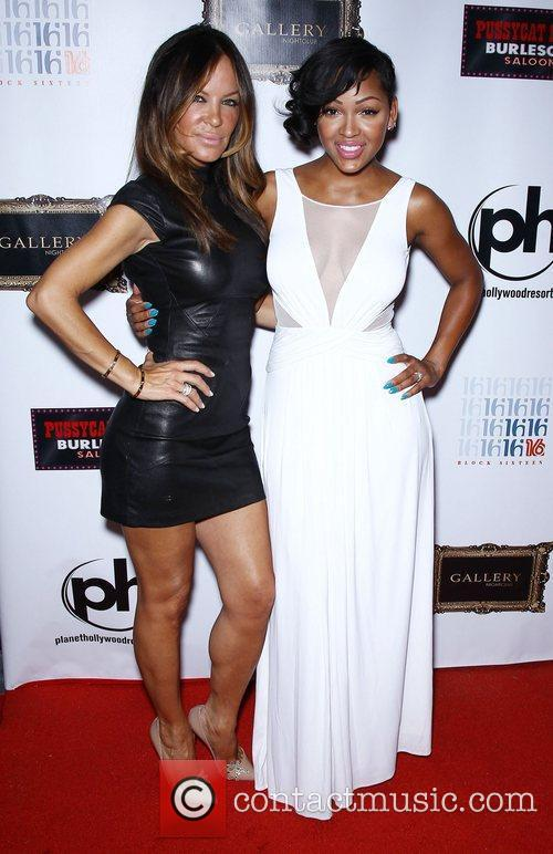 Robin Antin and Meagan Good Meagan Good arrives...
