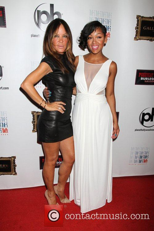 Robin Antin, Meagan Good  Meagan Good arrives...