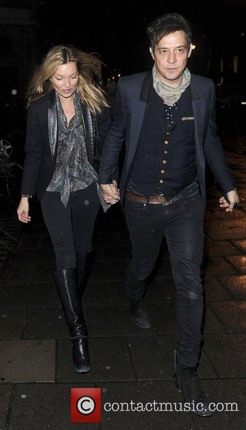 Kate Moss and Jamie Hince arrive for Meg...