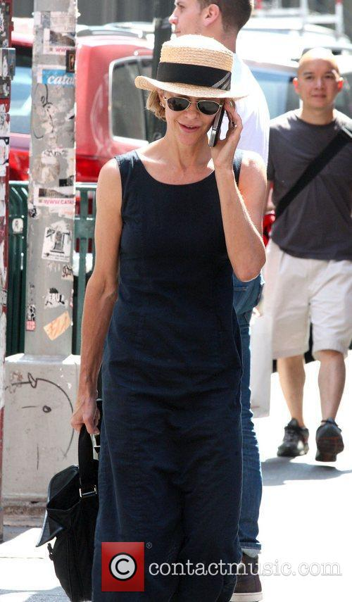 meg ryan out and about talking on 4054603