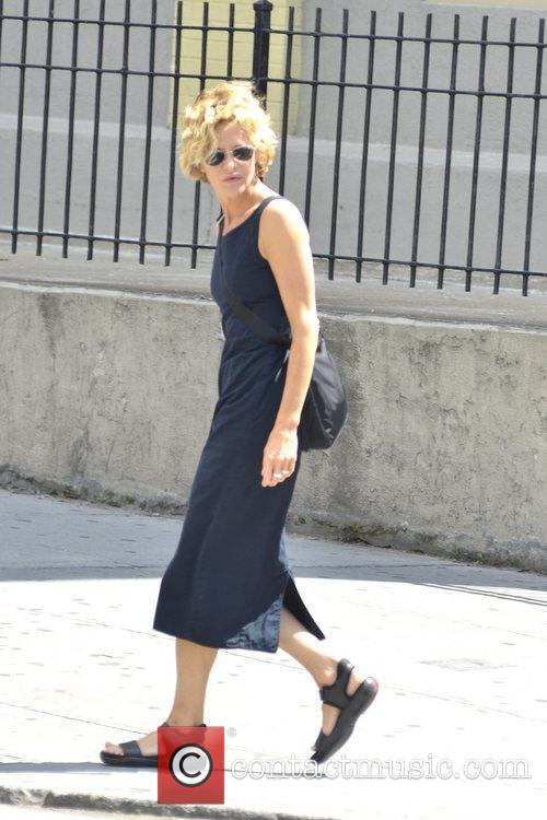 meg ryan is seen hailing a cab 5876309